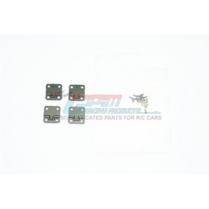 SCALE ACCESSORIES: STAINLESS STEEL DOOR HINGES FOR TRX-4 DEFENDER -20PC SET