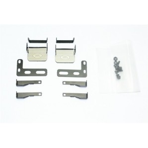 SCALE ACCESSORIES: STAINLESS STEEL SIDE STEP FOR TRX-4 DEFENDER -18PC SET