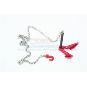SCALE ACCESSORIES:  GROUND ANCHOR CHAIN HOOK COMBO FOR CRAWLERS -1PC SET